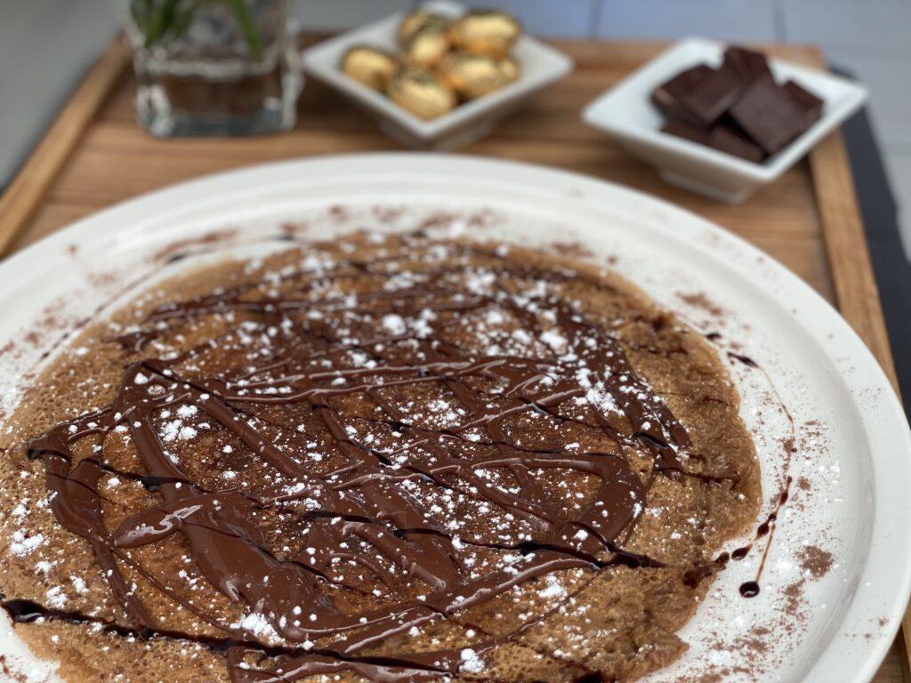 recette socca au chocolat - pois chiche - soccapero