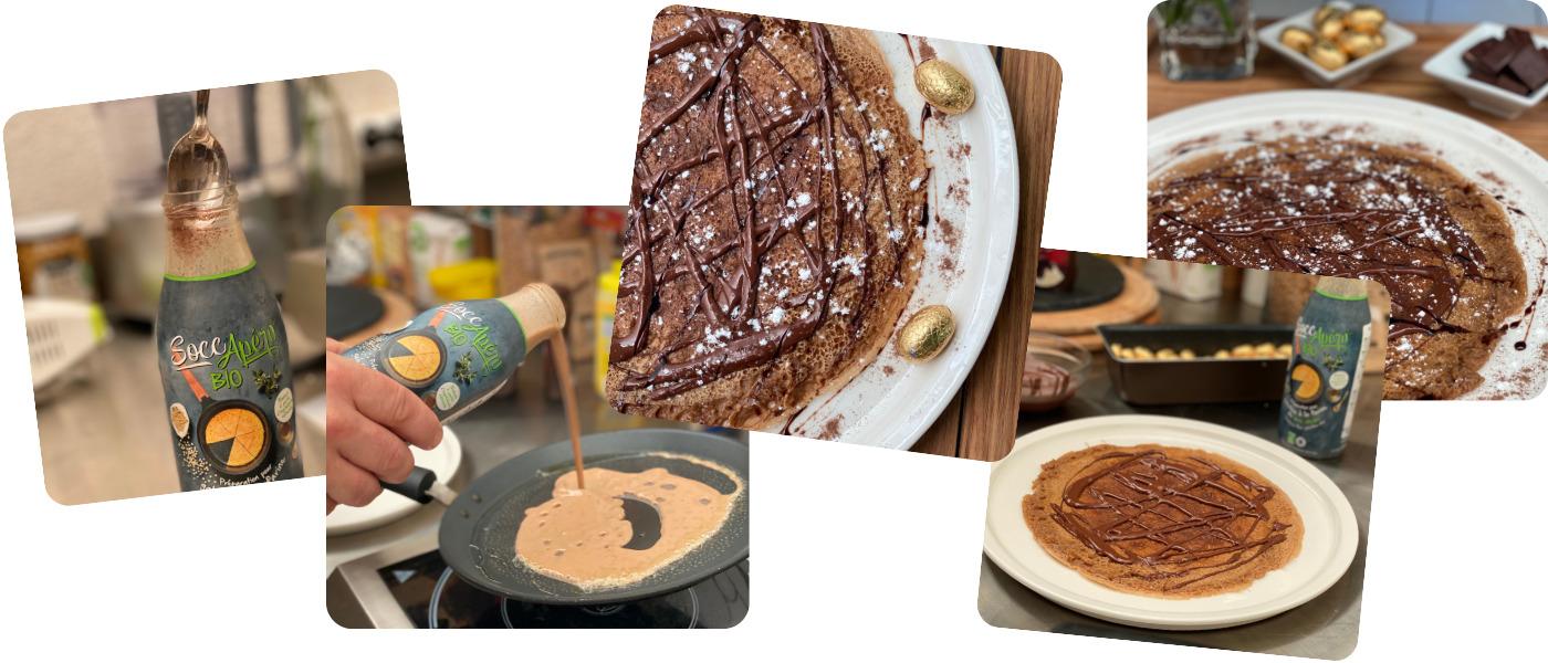 recette socca au chocolat avec SoccApéro®